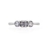 Solid White Gold Stars in the Sky Eternity - Grey 3 Diamond Polished Band Ring