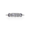 Solid White Gold Stars in the Sky Eternity - Grey 4 Diamond Polished Band Ring