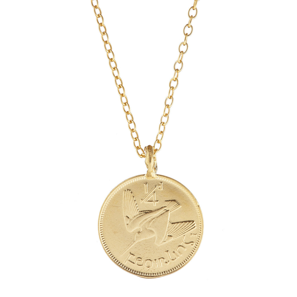 Chupi Worth Your Weight in Gold Farthing Coin Necklace