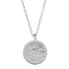 image of Worth Your Weight in Gold Farthing Coin Necklace in Silver