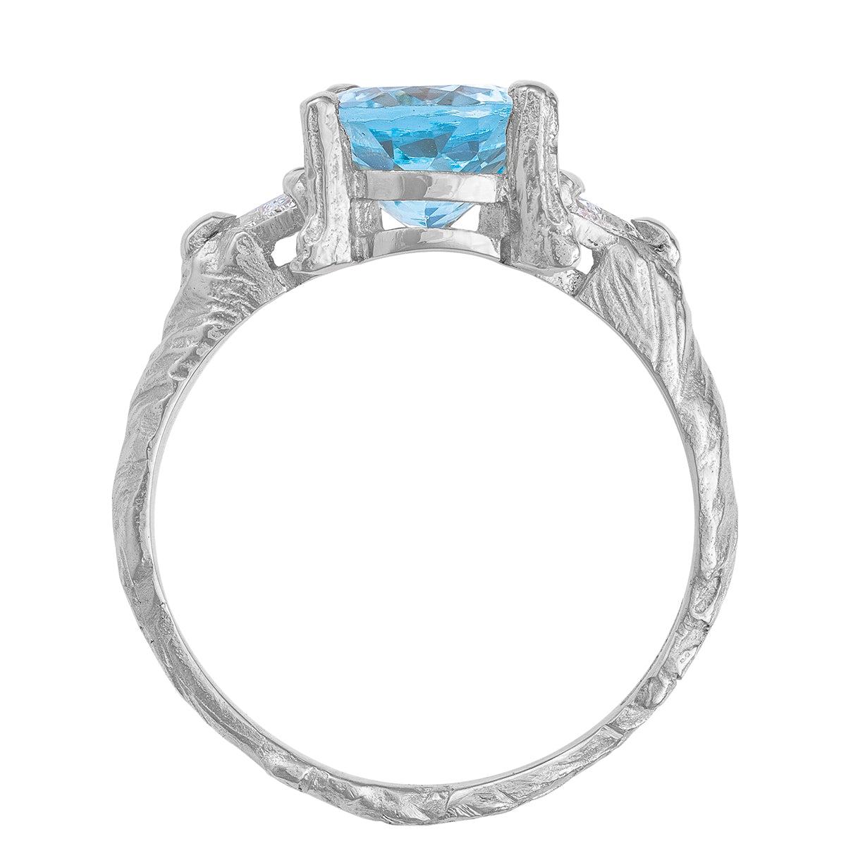 Solid White Gold One In A Trillion - Aquamarine & Diamond Ring