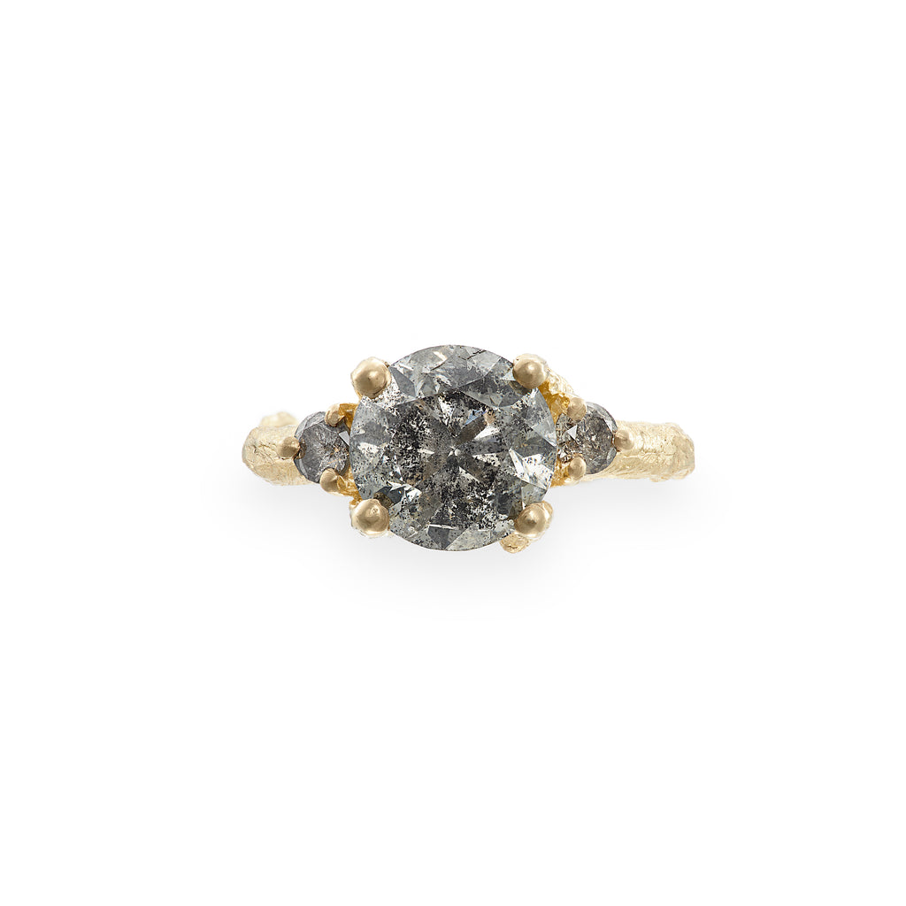 image-Solid Gold You Me & Magic Ring Grey Diamond Three Carat