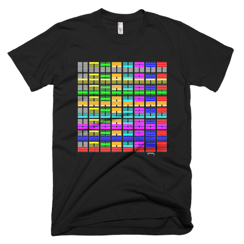 64 symbols colour square Tee - SOUL BROS by telberry