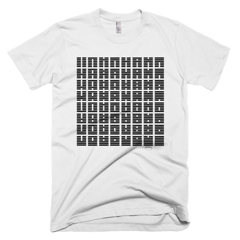 64 symbols b&w square Tee - SOUL BROS by telberry