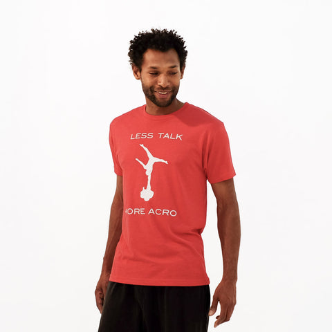 Less Talk More Acro Mens Tee | Red Heather