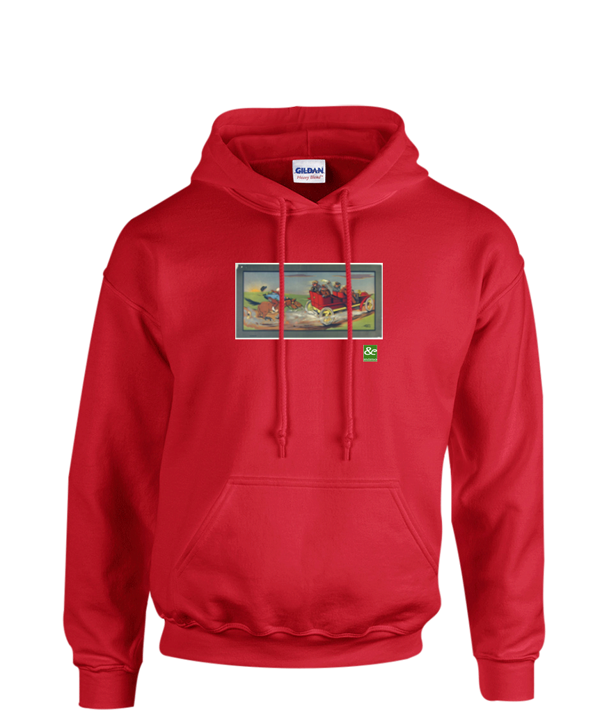 Horse Chases Car Hoodie