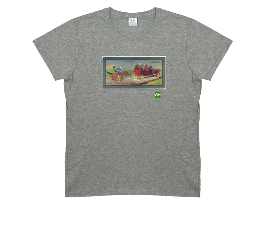 Horse Chases Car T Shirt