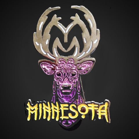 Yellow Minnesota Logo Pin