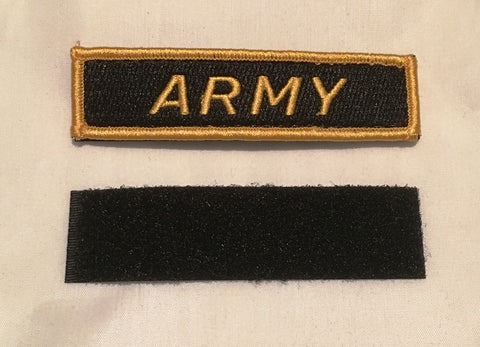 Velcro Sew on Patch ARMY 25 mm H x 95 mm W.