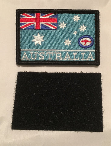 Velcro Sew on Patch AIR FORCE (RAAF) Flag 50 mm H x 75 mm W.