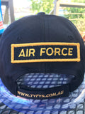 Velcro Sew on Patch AIR FORCE 25 mm H x 95 mm W.