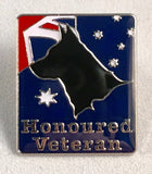 "Honoured Veteran ""K9 Service"" Badge."