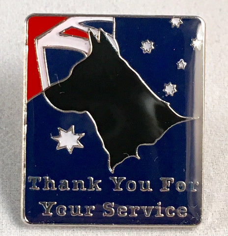 "Thank You For Your Service ""K9 Service"" Badge."