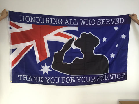TYFYS Flag/Honouring All Who Served, Full Size, 90cm x 150cm