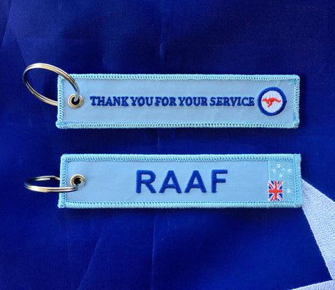 "Remove Before Flight Key TAG 130mm x 30mm ""RAAF"""