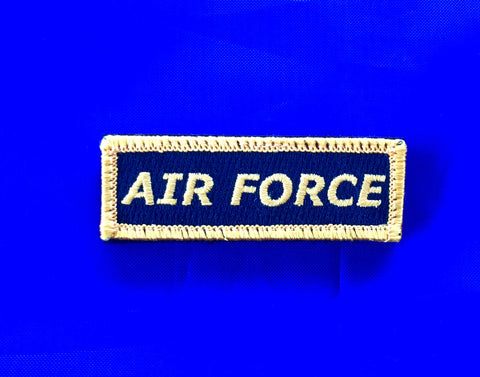 Mini Velcro Sew on Patch AIR FORCE 25 mm H x 75 mm W.