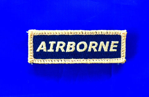 Mini Velcro Sew on Patch AIRBORNE 25 mm H x 75 mm W.