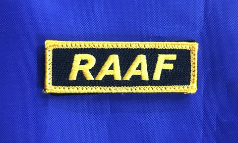 Mini Velcro Sew on Patch RAAF 25 mm H x 75 mm W.