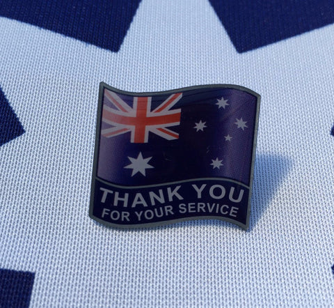 "Thank You For Your Service Badge "" Style 1 """