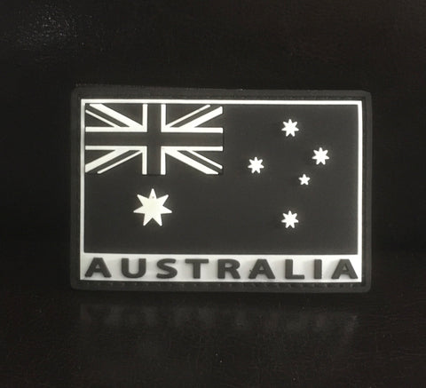 Velcro Sew on Patch Glow In The Dark Australian Flag 50 mm H x 75 mm W.