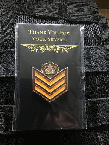 Australian Army Rank Pin, Staff Sergeant.