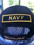 Velcro Sew on Patch NAVY 25 mm H x 95 mm W.