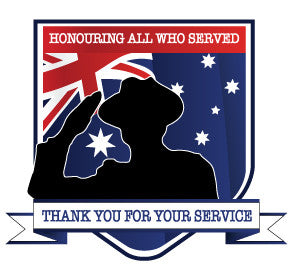 Car/Motorbike Sticker,100mm x 58mm,Thank You For Your Service/Honouring All Who Served.