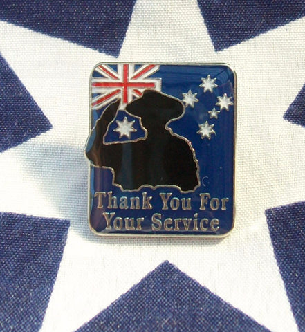 "Thank You For Your Service Badge "" Style 2 """