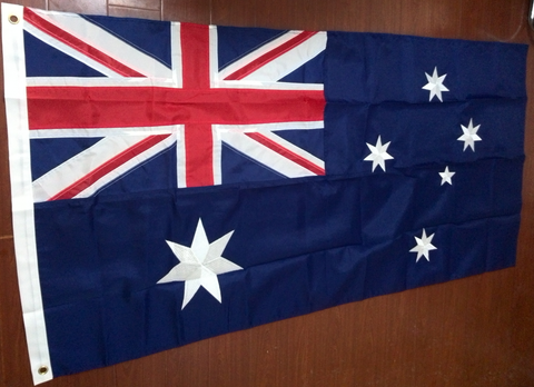 Embroidered Australian Flag Full Size, 90cm x 150cm (3' x 5').