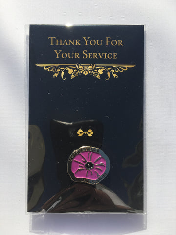 Remembrance Pin, Purple