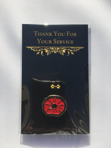 Remembrance Poppy Pin, Red