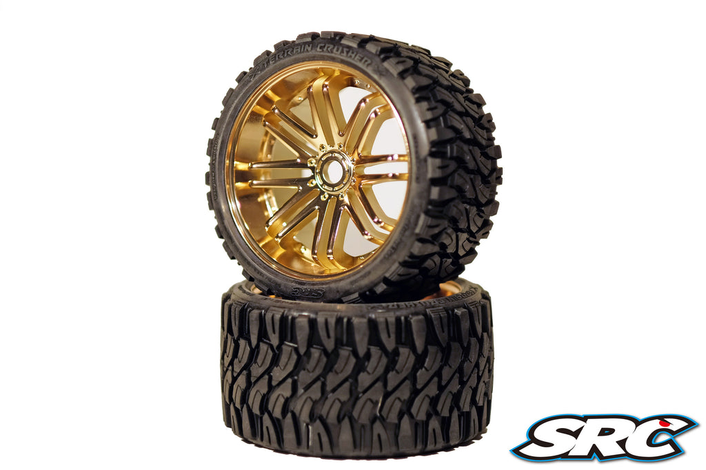 SRC Terrain Crusher (Belted) for 17mm HEX (Pair) *Bronze*