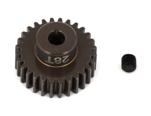 "FT Aluminum Pinion Gear, 28T 48P, 1/8"" shaft"