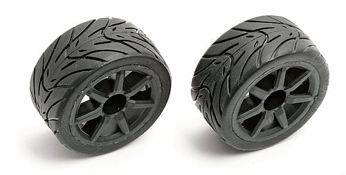 18R Mounted Rims/Tires (Black)