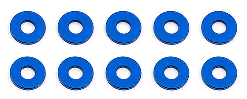 Bulkhead Washers, 7.8 x 1.0mm Blue Aluminum (10)