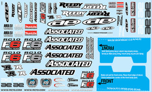 RC10F6 Decal Sheet