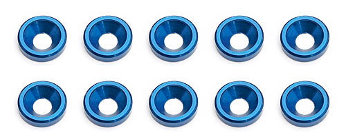 RC8 Blue Countersunk Washer