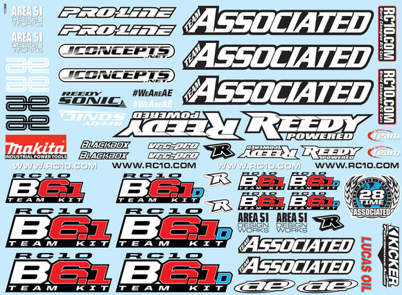 B6.1 and B6.1D Decal Sheet