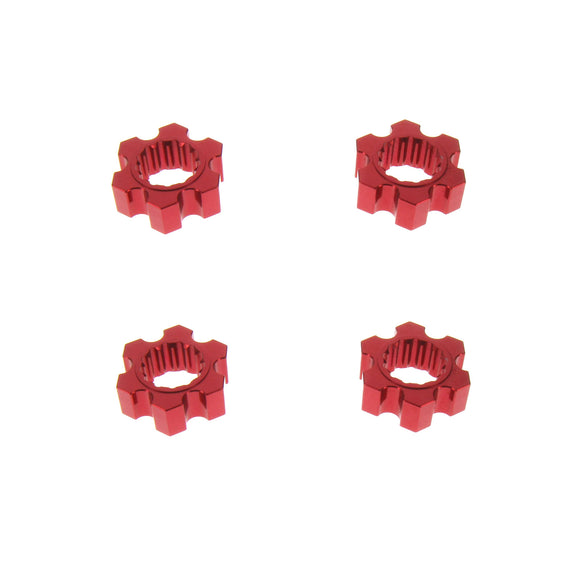 X-Maxx Alloy Hex Adaptor, Red