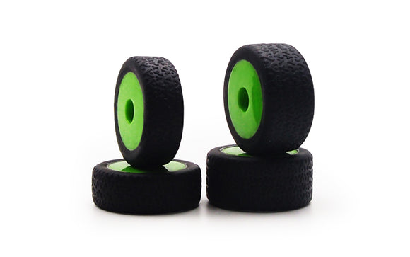 GT24B Tires, Mounted (4): Green Wheels