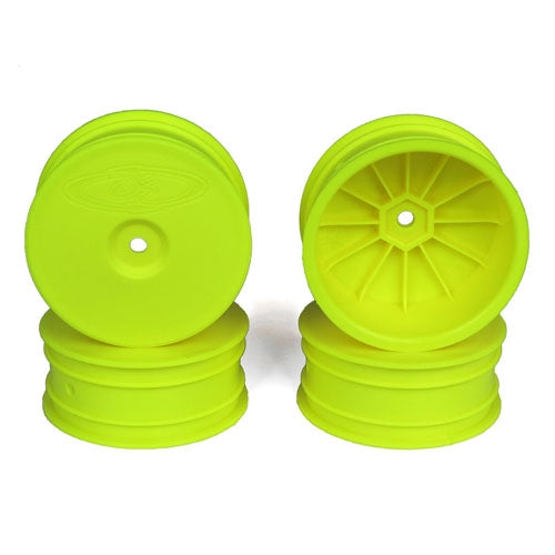 Speedline Buggy Wheels, Yellow for Losi 22-4 and Tekno EB410