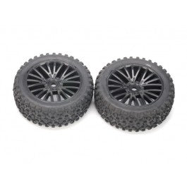 Tires, Front - Mounted on Black Wheels (2 pcs) - Wolf 2