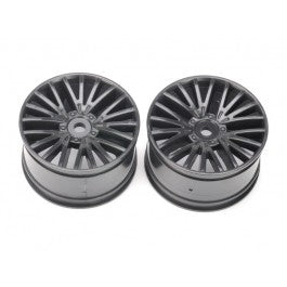 Rear Wheels, Black (2 pcs) - Wolf 2