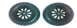 Tire Complete (Black Rims) (2pcs) SCT