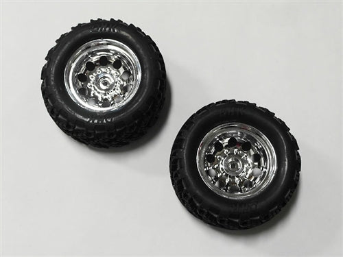 Tire Complete (Chrome Wheels) (2) - Crosse Brushless