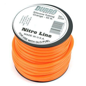 50' Nitro Line Silicone Fuel Tubing-Orange