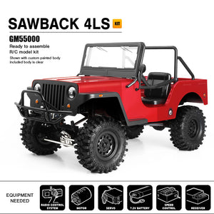SAWBACK 4LS, GS01 4WD Off-Road Vehicle Kit.