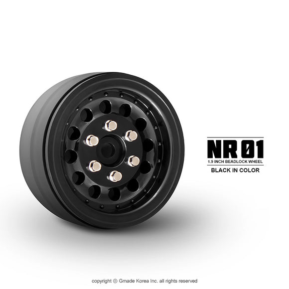 1.9 NR01 Beadlock Wheels (Black) (2)