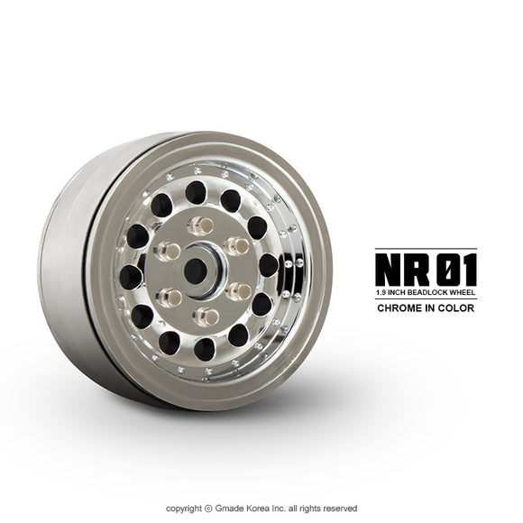 1.9 NR01 Beadlock Wheels (Chrome) (2)