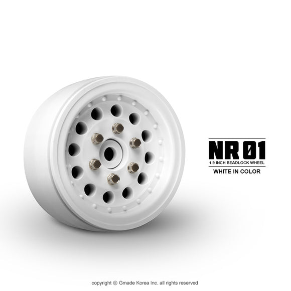 1.9 NR01 Beadlock Wheels (White) (2)